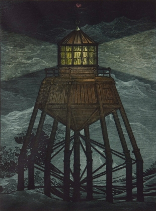 Beacon, Photogravure with hand colouring, 2012